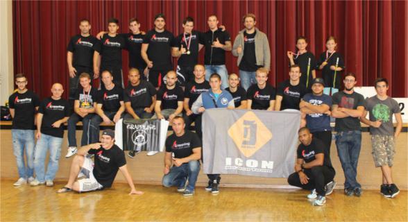 Photo des membres Icon Team Valais lors d'une compétition organisée à Conthey