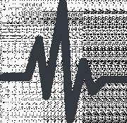 Pictogram representing heartbeats