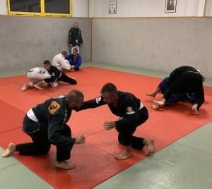 Photo prise lors d'un entraînement de JJB à notre salle de Collombey