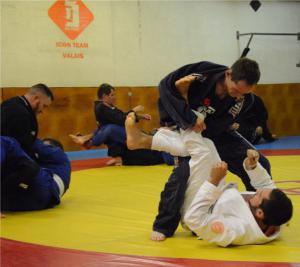 Photo prise lors d'un entraînement de JJB à notre salle de Conthey